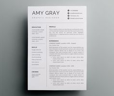 Creative Resume Template  Cv Template  Cover Letter  Word And