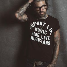 "Always up for good live music and supporting live musicians .. This shot is for  @imogene+willie .. pushing their ""Support Live Music"" shirt/campaign. Photo : @thejoshuablackwilkins ⚡⚡⚡⚡ #slumerican #nashville"