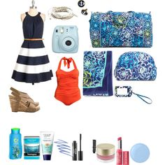 the high seas by adreyn15 on Polyvore featuring polyvore fashion style H&M Vera Bradley American Eagle Outfitters Stila Bare Escentuals Neutrogena Essie Herbal Essences