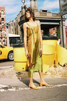 IRIDESCENT SPILL DRESS
