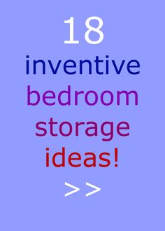 Raise your hand if you need more storage space in your bedroom! THANK GOODNESS I found these ideas!