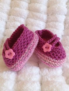Hand Knitted Baby Shoes Made to Order Booties by Snugglescuddles, £12.00