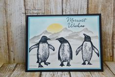 Playful Penguins Christmas 2019, Christmas Cards, Winter Cards, Card Designs, Penguins, Stamping, Card Ideas, Merry, Seasons