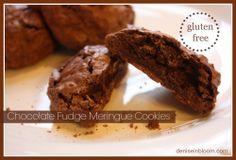 Chocolate Fudge Meringue Cookies (gluten free)