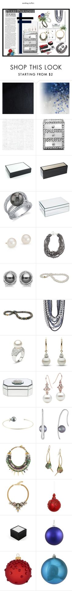 """""""Pearl Paradise"""" by idetached ❤ liked on Polyvore featuring Brewster Home Fashions, Brian Yates, Osborne & Little, Leeber Limited, Godinger, Blue Nile, Anne Klein, Allurez, Majorica and Lizzie Fortunato"""