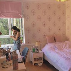 Pastel Room, Pink Room, Dream Rooms, Dream Bedroom, Aesthetic Room Decor, Cozy Room, Dream Decor, My New Room, Bedroom Decor