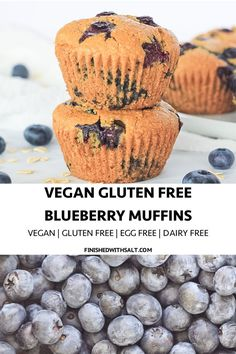 Vegan Gluten Free Blueberry Muffins Vegan Gluten Free Blueberry Muffins Yes these moist and blueberry filled muffins are making dreams come true! They are perfect for breakfast brunch or dessert! Source by gfveganmeals Desserts Keto, Lemon Desserts, Healthy Dessert Recipes, Breakfast Recipes, Heathy Breakfast, Vegetarian Recipes, Muffin Recipes, Brunch Recipes, Snack Recipes