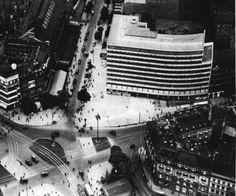 Berlin - Columbus Haus am Potsdamer Platz German Architecture, Architecture Images, Dresden, Berlin Photos, Potsdamer Platz, The Second City, Walter Gropius, Berlin Germany, Aerial View