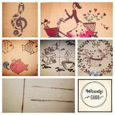 #woody#postcards#handmade#pyrograph