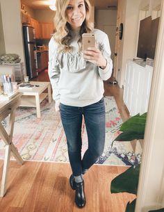 Top Shop Ruffle Sweatshirt