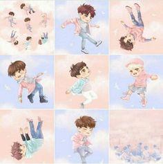 fly, yugyeom, and JR image Youngjae, Yugyeom, Wang Jackson, Got7 Jackson, Got7 Fanart, Kpop Fanart, Got7 Mark, Mark Tuan, Jaebum