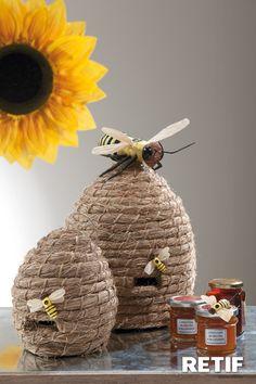Decoración con abejas y girasol
