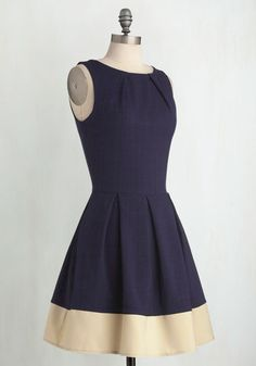 Luck Be a Lady Dress in Navy Contrast | Mod Retro Vintage Dresses | ModCloth.com  Had my eye on this for a few years!