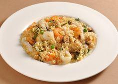 Repas léger pour perdre du poids : couscous de la mer