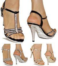 26c4bf4a021 Mujer Fiesta Pedrería Tiras En Tobillo Bajos Zapatos Medio Tacón Bolsos De  Fiesta