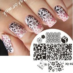 1 Piece Nail Art Polish DIY Stamping Plates Image Templates Nail Stamp Stencil Beauty Decorations Manicure Tools (JQ-02T)