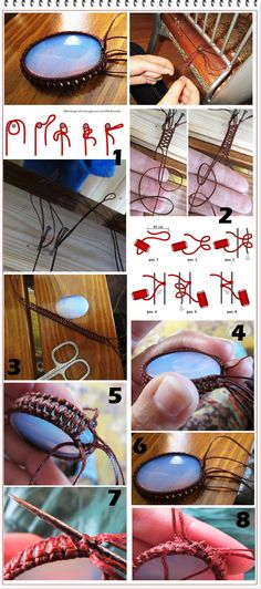 sujetar piedra con cordón. tutorial