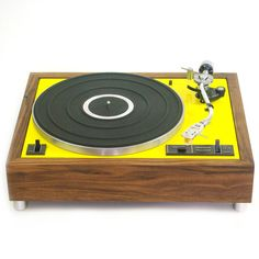 Rebuilt Record Player Yellow design inspiration on Fab. Yellow Houses, Record Players, Yard Sale, Things To Buy, Nice Things, Tech Accessories, Retro, Cool Stuff, Modern