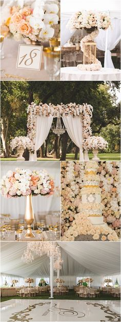 Glamorous wedding reception idea; featured photographer: Reverie VP