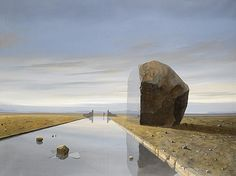 Buy online, view images and see past prices for Keith Alexander (South African, 'The Boulder'. South African Artists, Bouldering, Surrealism, Buildings, Landscapes, Paintings, Google Search, Places, Travel