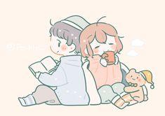 Cute Anime Wallpaper, Wallpaper Iphone Cute, Cute Wallpapers, Cute Couple Comics, Cute Couple Art, Anime Couples Drawings, Girly Drawings, Anime Chibi, Chibi Base Couple