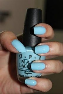 OPI What's With The Cattitude (Pastel Robin's Egg Blue)
