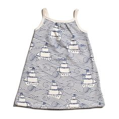 Pinwheel Baby Dress - High Seas Navy