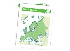 Map of Europe - Download and laminate this map of Europe. A great way to teach geography.
