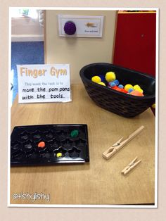 Pom Pom and pegs Fine Motor Activities For Kids, Motor Skills Activities, Gross Motor Skills, Preschool Activities, Preschool Classroom, Indoor Activities, Classroom Ideas, Fine Motor Skills Development, Physical Development
