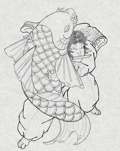 Japanese Koi, Japanese Prints, Hipster Tattoo, Asian Tattoos, Japan Tattoo, Oriental Tattoo, Irezumi Tattoos, Samurai Tattoo, Japanese Illustration