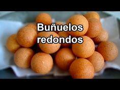 DELICIOSOS BUÑUELOS CASEROS -|- RECETA BUÑUELOS COLOMBIANOS - YouTube Puff Recipe, Empanadas, Deli, Sweet Potato, Caramel, Food And Drink, Potatoes, Stuffed Peppers, Bread