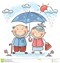 Buy Grandparents by katya_dav on GraphicRiver. Happy cartoon grandparents, no gradients Art Drawings For Kids, Drawing For Kids, Easy Drawings, Art For Kids, Cartoon Familie, Stick Figure Drawing, Family Drawing, Old Couples, Happy Cartoon