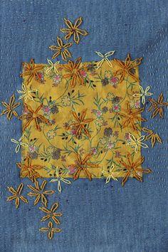 Stitch Art That Satisfies My Soul – Marie Plakos Sashiko Embroidery, Japanese Embroidery, Cross Stitch Embroidery, Embroidery Applique, Embroidery Patterns, Simple Embroidery, Embroidery On Jeans, Stitch Patterns, Boro Stitching
