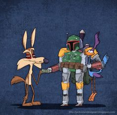 When in doubt, hire a professional - Wile E. Coyote, Boba Fett, & Road Runner.