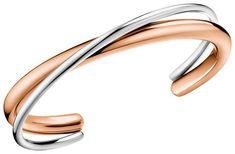Calvin Klein Armreif Bicolor Double PVD Roségold beschichtet KJ8XPF20020 Bangles, Bracelets, Gold, Jewelry Design, Fashion, Bangle Bracelet, Watches, Silver, Moda
