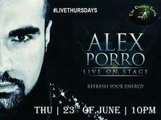 Joi, 23 iunie, începand cu ora 22:00, Alex Porro & Band te invită să iei parte la un nou concert plin de energie, aşa cum a obişnuit deja publicul din The Drunken Lords. RSVP: 0736-23.88.15