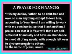Prayer for Finances Prayer Times, Prayer Scriptures, Bible Prayers, Catholic Prayers, Faith Prayer, Prayer Quotes, Bible Verses, Biblical Quotes, Empowering Quotes