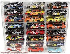 NASCAR Diecast Model Car Display Case 1/24 Scale 24 Compartments