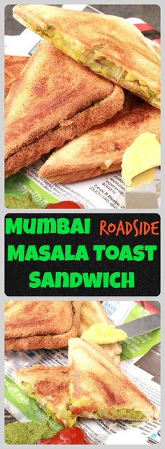 Mumbai Masala Toast Sandwich is very popular snack across Mumbai. You will find them at all corners and stalls in Mumbai and that is one of the staple food for people travelling long way from their home to office.