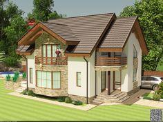 Click to Close Village House Design, Village Houses, House Elevation, Country Art, Design Case, Log Homes, Home Fashion, Verona, Future House
