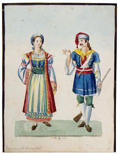 Two regional costumes Regional, Princess Zelda, Costumes, Painting, Fictional Characters, Art, Fashion, Art Background, Moda