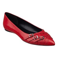 New Elegant 4 Colors Women Boat Shoes Flats Pointed Toe High-quality Black Red Beige Blue Soft Leather Shoes Woman US Size 4-15