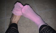 Feet of a Goddess: Pink Textured Socks