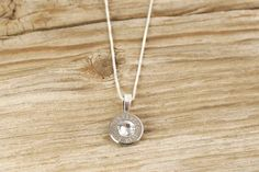 223 Caliber Nickel Bullet Head Sterling Necklace by BulletDesigns