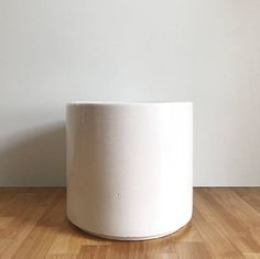 Vintage White Gainey Planter/ Large Gainey AC-12 / Mid Century
