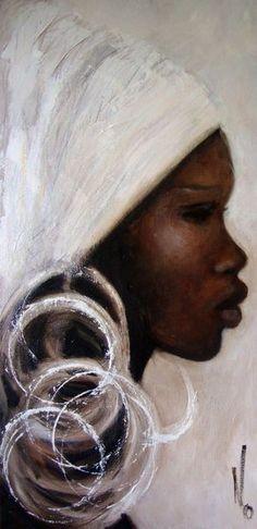 Black Art Cross Stitch Pattern - African Art Cross Stitch - Printable Africa Art - African Embroidery - Digital African Print - PDF File in 2019 Black Girl Art, Black Women Art, Art Girl, Art Women, Black Art Painting, Black Artwork, Woman Painting, China Painting, Arte Black