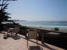 Carmel, CA: 'Fiddlers Green' is a charming post-adobe style Carmel home located on the beachside of Scenic Road in Carmel-by-the-sea. It is a very pretty hous. Oceanfront Vacation Rentals, Unique Vacations, Outdoor Tables, Outdoor Decor, California Vacation, Vacation Spots, Outdoor Furniture Sets, Adobe, Places To Visit
