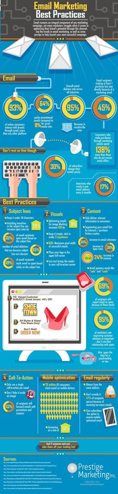 #Email #Marketing Best Practices - it's all in this #Infographic ! http://www.rnc-consulting.com