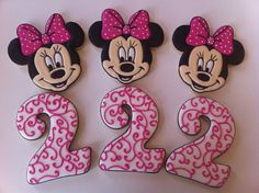 Minnie Mouse Cookies by SweetCBakeShop on Etsy, $48.00