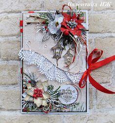ВДОХНОВЕНИЕ - расправь свои крылья... Create Christmas Cards, Christmas Card Crafts, Christmas Labels, Christmas Scrapbook, Vintage Christmas Cards, Xmas Cards, Handmade Christmas, Handmade Birthday Cards, Greeting Cards Handmade